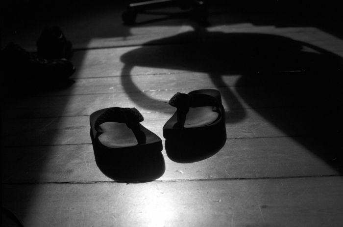 Flip Flops with Shadow in the sunlight