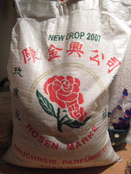 large bag of rice