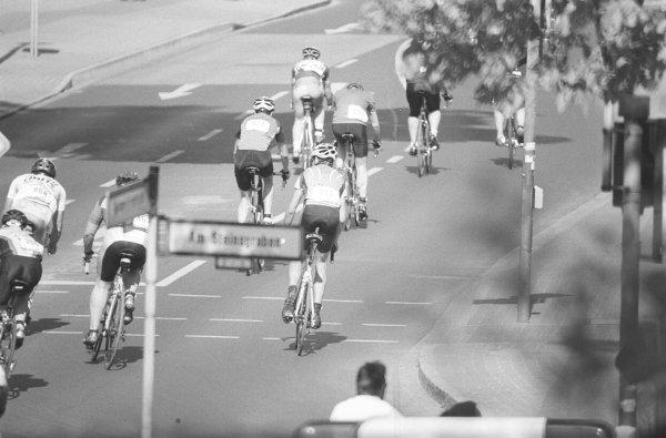 Cyclists in a bike race