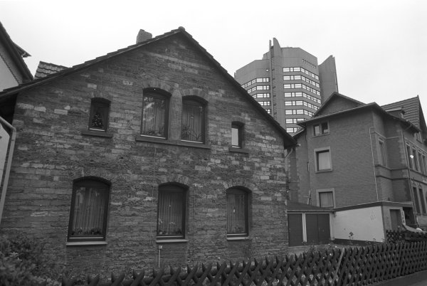 New and old Buildings in various shades of grey