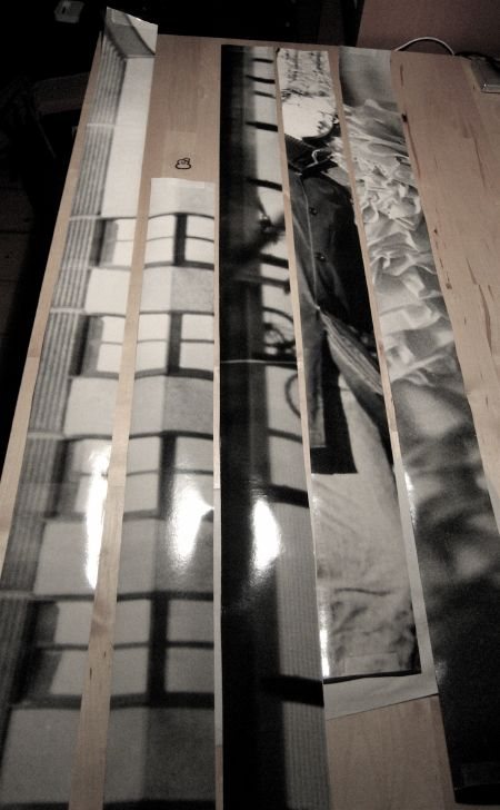 Prints on long strips of paper