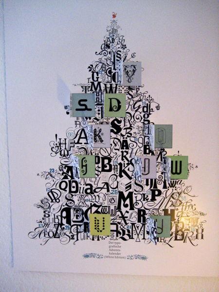 Typographic advent calendar