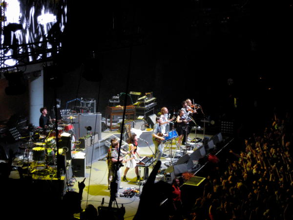 Arcade Fire on stage at Tempodrom in Berlin