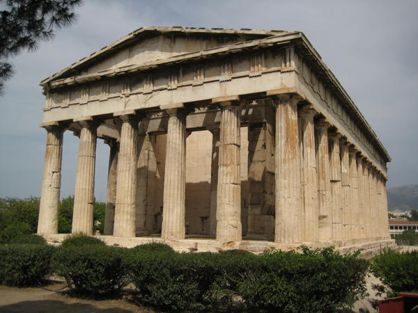 Temple of Hephaistos in the Ancient Agora in Athens