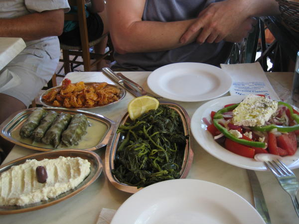 Many small plates make a lunch