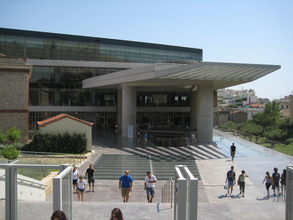 Entrance of the New Acropolis Museum in Athens