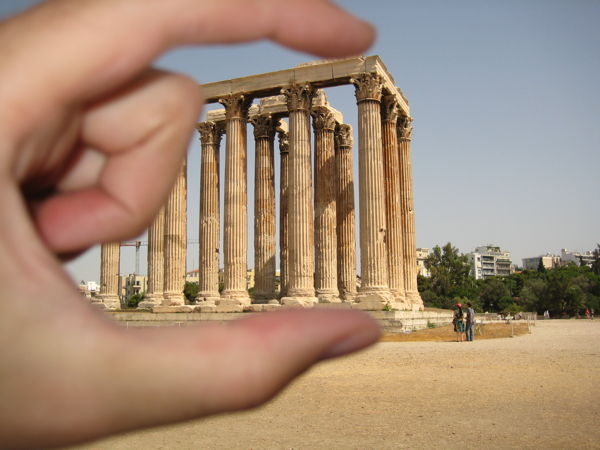 Temple of Olympian Zeus, squeezed