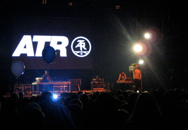 Atari Teenage Riot on stage in Hangar 4 at Berlin Festival 2010