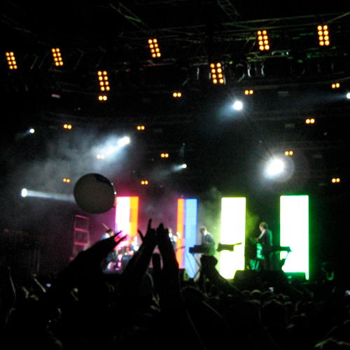 Soulwax on the main stage at Berlin Festival 2010 (blurry)