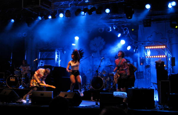 The Go! Team on stage at BootBooHook 2010