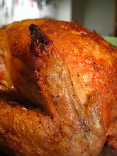 Roast chicken closeup