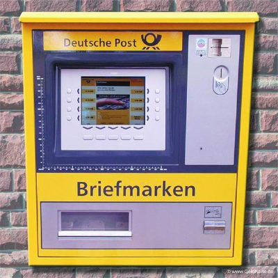 New Stamp selling machine. Credit for the photo from Wikimedia goes to http://www.geldkarte.de