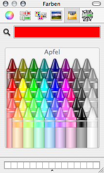 Colour picker in OS X displaying red, aka apple