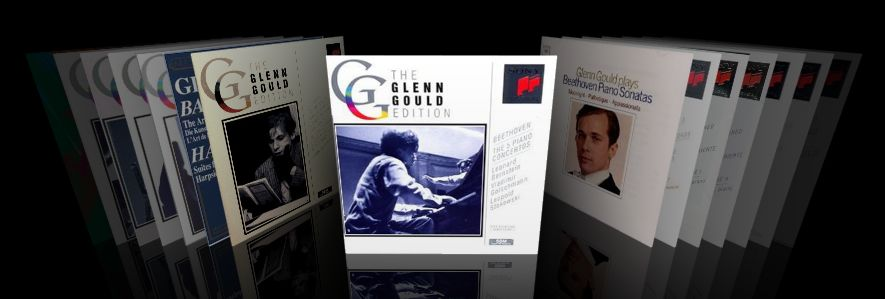 Glenn Gould CDs in CoverFlow