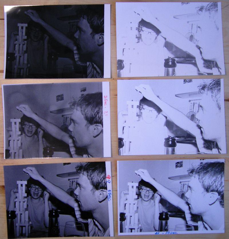 Six prints of the same photo