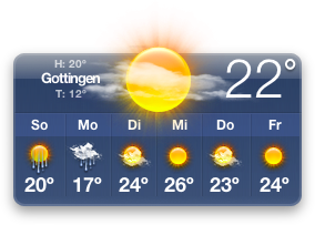 German Weather Widget
