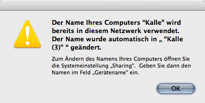 The name of your computer is already in use