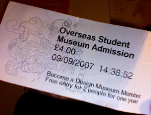 Design Museum Ticket