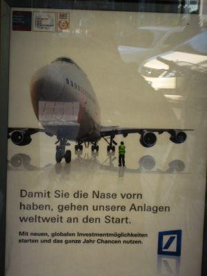 Old Jumbo jet on an ad