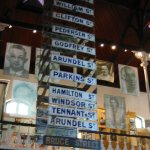 Photo from inside of District Six Museum displaying street names
