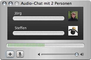 iChat audio chat with three people