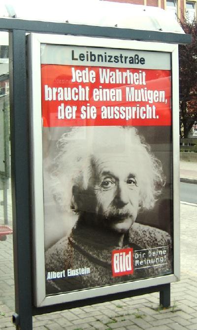Bild ad at a bus stop