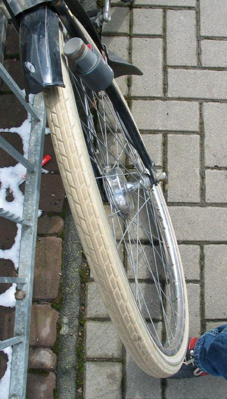 My bent front wheel