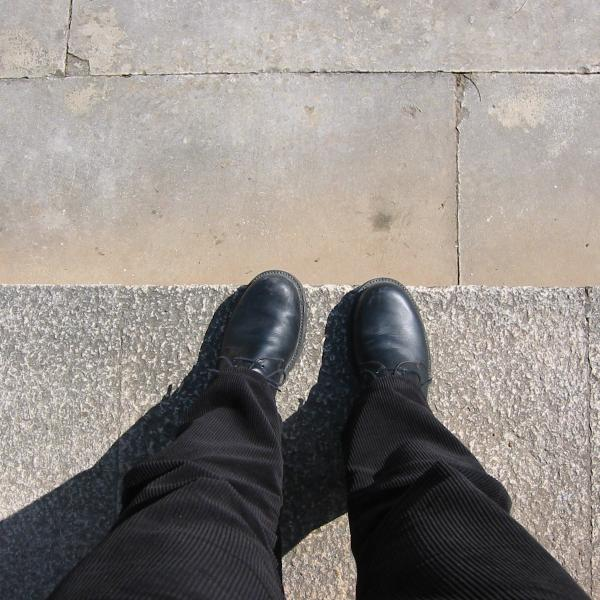 Feet in Batalha, sunny, no dirt