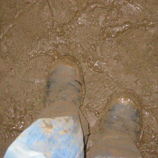 Feet at Haldern 2005 in the mud