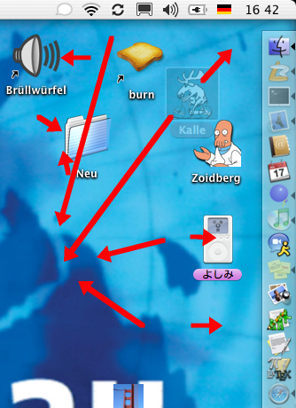 Chaotic icon movement in the Finder