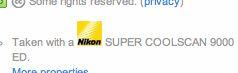 Nikon ad in my metadata on Flickr