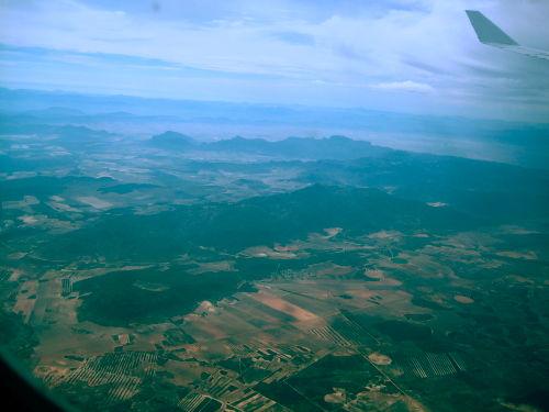 Landscape seen from plane window