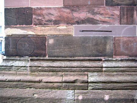 Size references on the cathedral wall