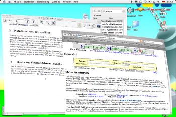 Screenshot of Windows remaining in mid-minimise status