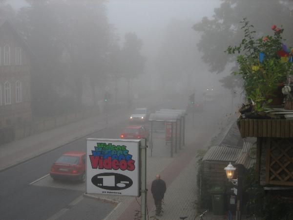Loads of fog in the street