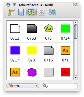 OmniGraffle selection tools