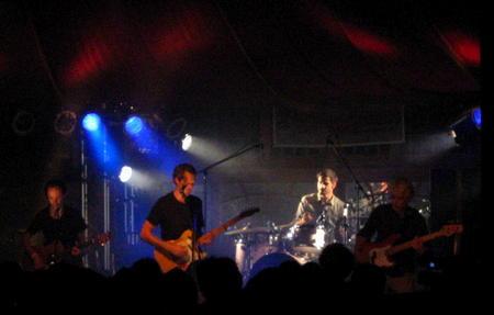 Gsibert zu Knyphausen on stage in the Spiegelzelt