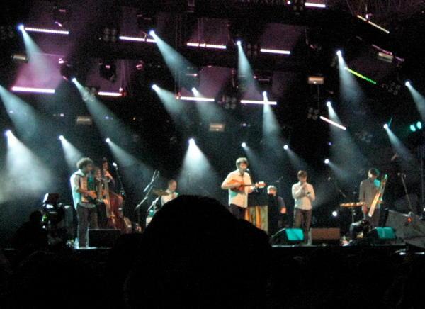 Beirut on the main stage at Haldern Pop 2010
