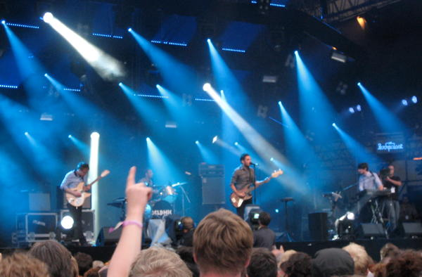 Delphic on the main stage at Haldern Pop 2010