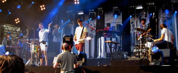 Efterklang on the main stage at Haldern Pop 2010