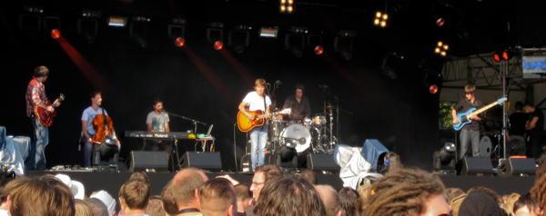Philipp Poisel on the main stage at Haldern Pop 2010
