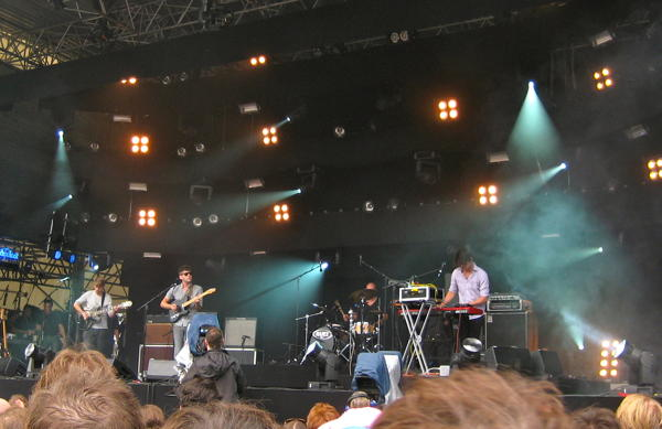 The Antlers on the main stage at Haldern Pop 2011