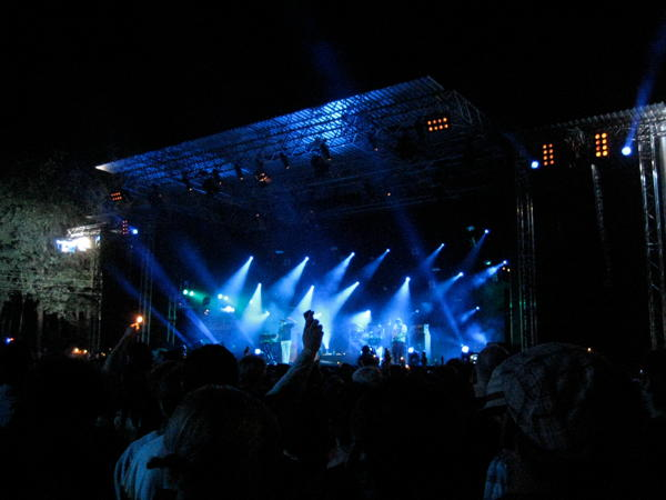 The Wombats on the main stage at Haldern Pop 2011