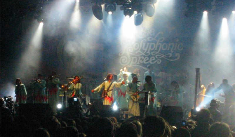 The Polyphonic Spree performing