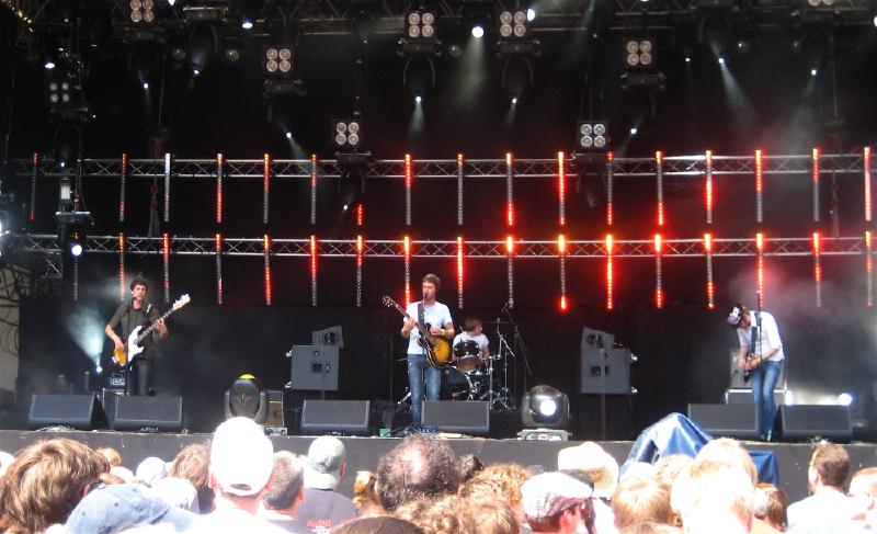 The Rifles on stage
