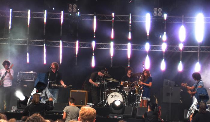 The Zutons on stage