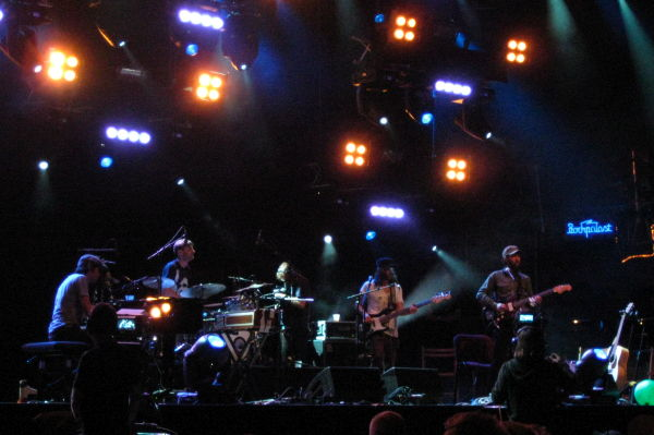 Patrick Watson and band on the main stage at Haldern Pop 2009