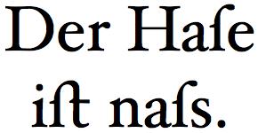 swashy s in Hoefler Text