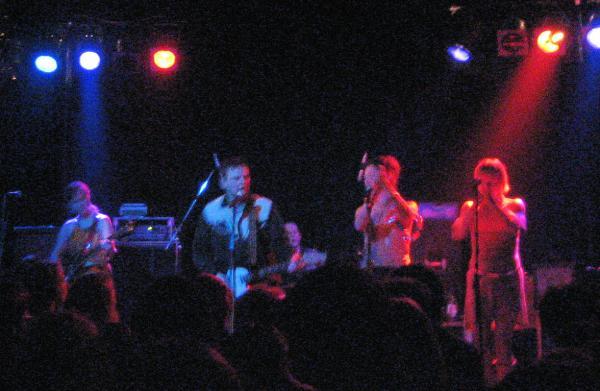 Huah! on stage