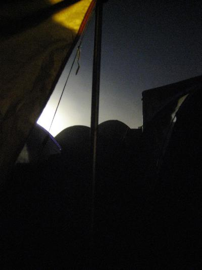 The camp ground at night